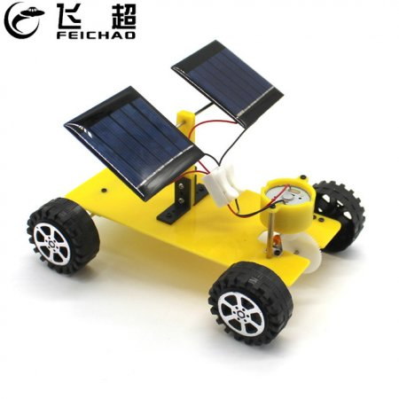 Dual Solar Panel DIY Mini Solar Powered Toy Car Assembly Science Materials Kits Vehicle Model Boy Gift Educational Robot