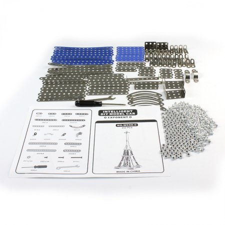 3D Alloy Puzzle 352Pcs Metal Eiffel Tower Model Building Kits Set with Screw Tool Educational Brick Toys Christmas Gift for Kids