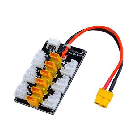 JMT XT30 1S-3S Plug Parallel Charging Plate Lithium Battery Charging Board For B6 Balance Charger DIY RC Fixed Wing Aircraft FPV Drone Quadcopter