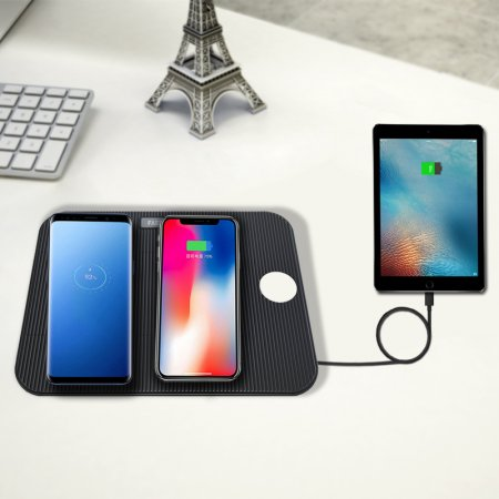 3 In 1 QI Fast Wireless Charger Stand Foldable for iPhone 8 Plus X XR XS MAX Charging Pad Dock Station for Apple Watch 1 2 3 4