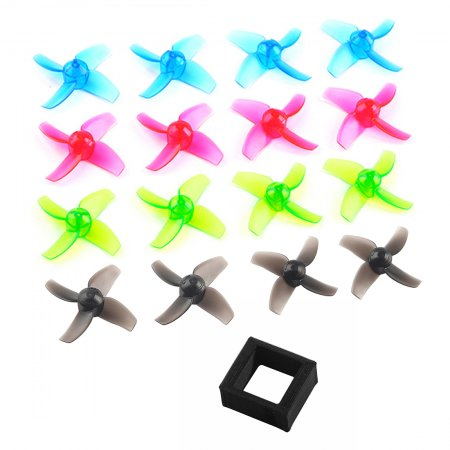 Happymodel Mobula7 Mobula 7 Spare Parts Replacement Propeller 40mm 4-blade Props Color Set with Battery Holder