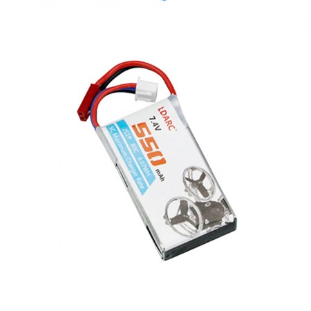 LDARC 7.4V 550mAh 80C Lipo Battery for FPV Racing Drone Quadcopter RC Helicopter Aircraft