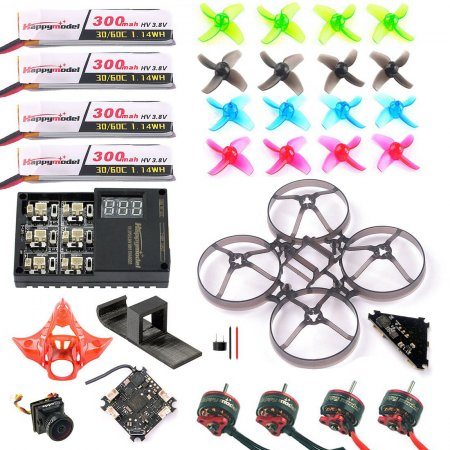 Full Set DIY FPV Drone Accessories Crazybee F4 PRO FC V2 Frame VTX SE0802 Motor Turbo Eos2 Camera for Mobula7 75mm Bwhoop75 Brushless Whoop Eachine TRASHCAN TC75