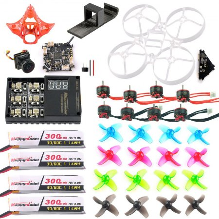 DIY Mobula7 V2 Full Set Crazybee F4 PRO FC VTX Frame Propellers SE0802 1-2S CW CCW Motor Turbo Eos2 Camera for 75mm Bwhoop75 Brushless Whoop Eachine TRASHCAN TC75 FPV Racing Drone RC Racer Quadcopter