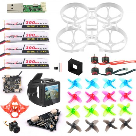 FPV Version Full Set DIY Mobula 7 V3 FPV Drone Accessories Combo Crazybee F4 PRO FC FPV Watch V3 Frame SE0802 Motor Turbo Eos2 Camera VTX for Mobula7 75mm Bwhoop75 Brushless Whoop Eachine TRASHCAN TC75