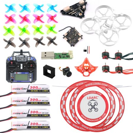 Flysky Version Full Set with Transmitter DIY Mobula 7 V3 FPV Drone Accessories Combo Crazybee F4 PRO FC V3 Frame SE0802 Motor Turbo Eos2 Camera VTX Arch Apron for Mobula7 75mm Bwhoop75 Brushless Whoop Eachine TRASHCAN TC75