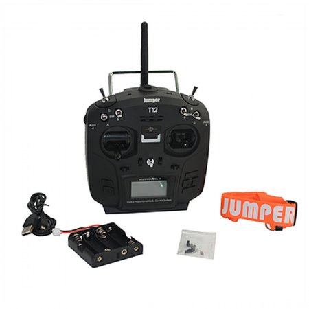 Jumper T12 PLUS Open Source 16ch Radio with JP4-in-1 Multi-protocol RF Module With HALL Gimbal for RC Drone Car Boat