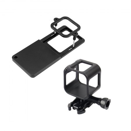 Gimbal Switch Mount Plate Adapter + Session Standard Protective Frame for Gopro Hero 4 5 Session for DJI OSMO Zhiyun Stabilizer