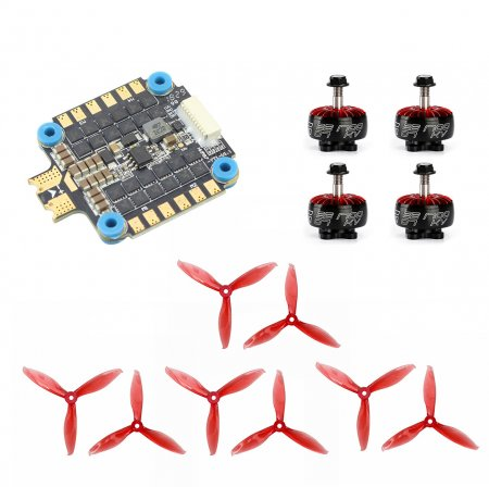 4PCS IFlight Xing 2207 1700KV 1800KV 3-6S Motor with HobbyWing XRotor-Micro-45A-6S-4in1 ESC GEMFAN 5149-3 5 Inch Props FPV Racing Motor Super Light Engine for RC Racing Drone DIY Quadcopter