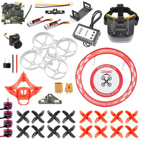 JMT DIY 75MM Brushless Whoop FPV Racing Drone RC Quadcopter Upgrade Combo Kit With OMNI F3 Frsky Flight Control SE0802 Motor 5.8G VTX Turbo Eos2 Camera FPV Goggles Arch Apron