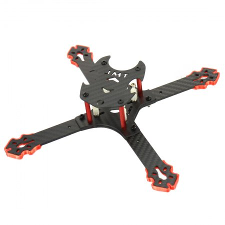 JMT J205 205mm 3mm Arm Carbon Fiber Frame Kit X Structure 4-Axis for Freestyle DIY RC Quadcopter Mini Drone FPV