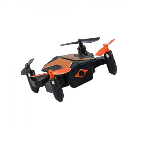 Attop XT-2 Portable Selfie Drone Mini Foldable RC Drone for Beginners and Kids One Key Take OFF WIFI FPV Altitude Hold Quadcopter 30W Wifi Version/ Standard No Camera Version (Orange, 30W WIFI)
