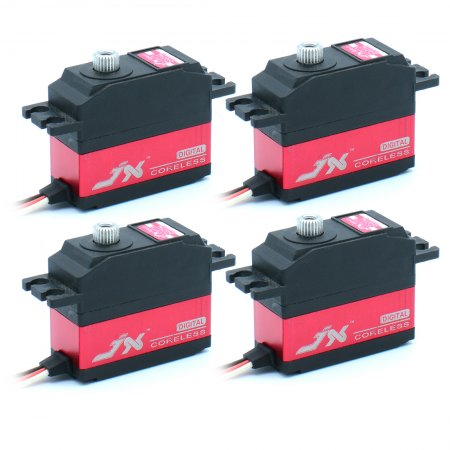 JX 4Pcs Servo PDI-2506MG 25g Metal Digital Miniature Servo High Performance Digital Coreless Servo CNC Aluminum Inner Shell