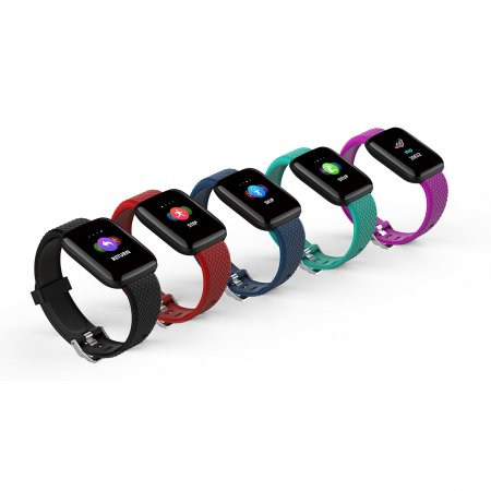 FCLUO D13 Smart Watch Bluetooth Bracelet Color Screen Blood Pressure Heart Rate Sleep Monitoring Sports Bracelet