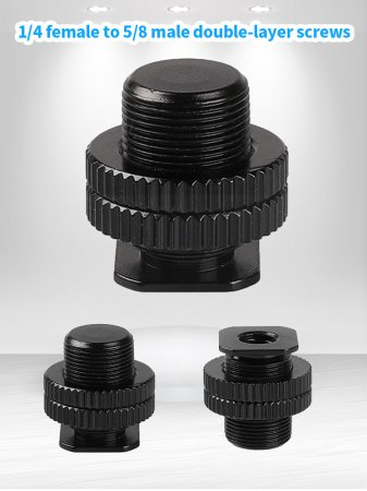 Metal Shockproof clip Hot shoe Adapter 5/8 inch 1/4 inch Screw for Camera Tripod Head Microphone Mic Mount Bracket