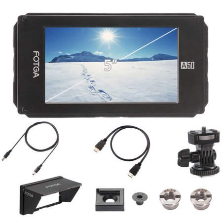 FOTGA A50 A50TL A50TLS 5 inch HD Touch Screen Director Video Monitor Camera Live Top SDI Monitor
