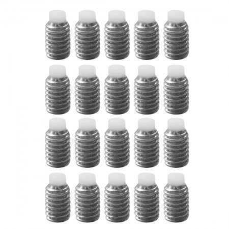 BGNING ​20Pcs M5 Polyacetal Non-slip Rubber Head Stop Screw Stainless Steel Allen Headless Hexa Socket Bolts Buffering M5*8 Screws Set