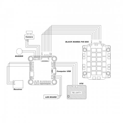 US$ 52 77 - DIATONE MAMBA F405 8K MINI POWER TOWER F405 Mini