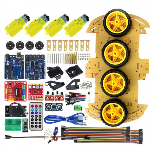 Multifunction Bluetooth Controlled Robot Smart Car Kits Tons