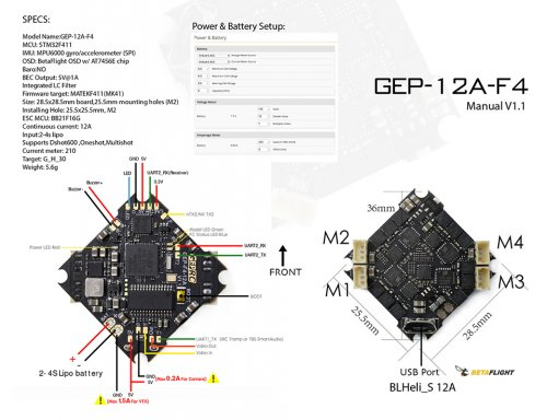 GEPRC GEP-12A-F4 Flight Controller 4S BLhelis_s 12A ESC for