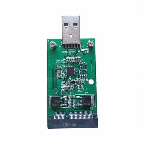 XT-XINTE Mini PCI-E mSATA to USB 3 0 External SSD Converter