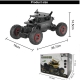 Flytec 9118 1/18 2.4G 4WD Alloy Off-road RC Climbing Car High Speed Clamber Cross Country Vehicle Toys