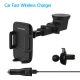 FCLUO Qi Car Wireless Fast Charger Bracket Telescopic Suction Cup + Air Outlet Clip with Fast Charging Plug For Iphone Samsung Mobile Phone