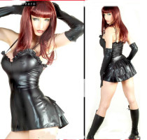 4415(zt9143)wetlook sexy club dress