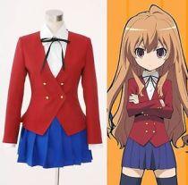 TIGER×DRAGON Aisaka Taiga Toradora Gal Uniform Cosplay Costume Dress Made Size