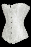 A1221-2 Black Embroidered Strapless Corset