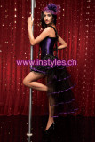1315-7039 purple burlesque costume