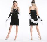 457 black flapper costume S-2XL $14