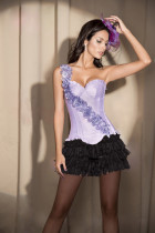 1208P-7038 ruffle panty  Floral Strap Underwire Corset