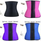 10201 9 steel bone latex waist trainer