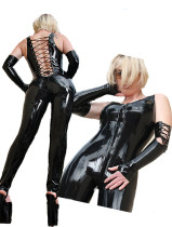 LKH1057 LEATHER CATSUIT