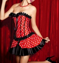 1235-2 corset mini skirt costume