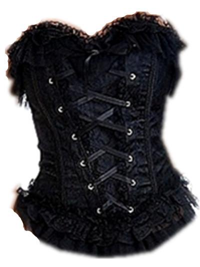 a208 black corset top 1643