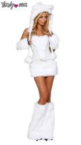 86 white animal costume