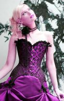 ZT5232 purple corset