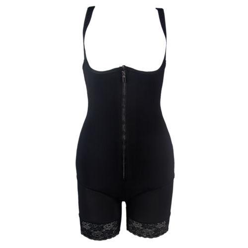 775 Womens Zip Underbust Corset Bodysuit Shaper Butt Lifter Enh