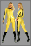 wp109 yellow kill bill leather catsuit(OEM)