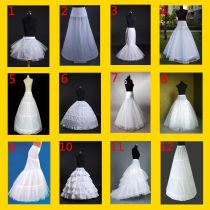 White bridal wedding dress prom petticoat underskirt skirt crinoline