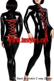 4482 back to crotch 2 way zipper latex catsuits