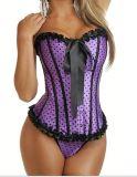 A5205P purple polka corset