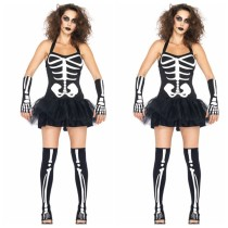 LQZ081 SKELETON LADY TUTU DRESS HALLOWEEN costume