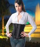 LA9422-2 black satin corset discount sales