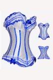 ZT1287 blue burlesque corset clearnace