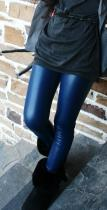 FY024-1 blue faux leather legging