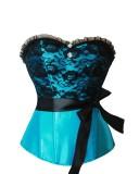 lxm-3609Blue corset top