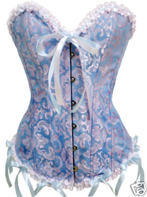 LXM819-1 Embroidered Burlesque Corset 2pcs 4xl clearance.
